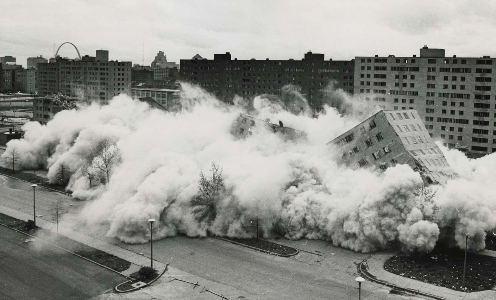 The demolition of Pruitt-Igoe